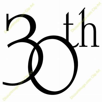 30th Anniversary Clipart Text Happy Clip Number