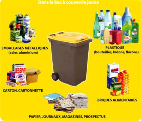 poubelle jaune que peut on recycler le de la