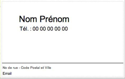 modèle carte de visite personnelle classique carte de visite particulier familiale et personnelle