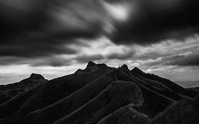 4k Mountain Clouds Bw Philippines Hill Background