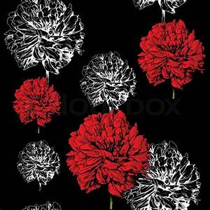 Abstract floral background, fashion black seamless pattern ...
