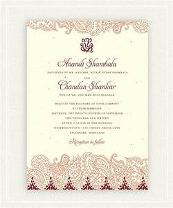 indian wedding invitations on seeded paper shantih by With recycled paper wedding invitations indian