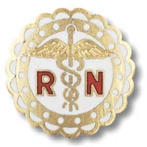 Brooches & Lapel Pins Diagnostics & Instruments Emblem Pins - 1001 - Registered Nurse Pin