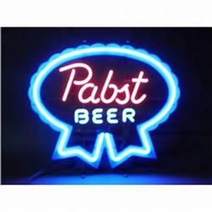 Pabst Blue Ribbon Beer Neon Sign w ribbon