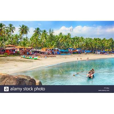 India Goa Palolem beach Stock Photo Royalty Free Image