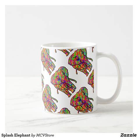 _ available in 11 oz. Splash Elephant - coffee mug