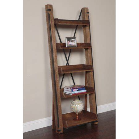 Leaning Bookcase Walmart by American Furniture Classics Industrial Open Shelf 81