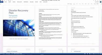 Disaster Recovery Template Word Plan Ms Guide