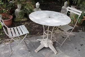 Puce De Jardin : table de jardin en fer puces d 39 oc brocante en ligne ~ Nature-et-papiers.com Idées de Décoration