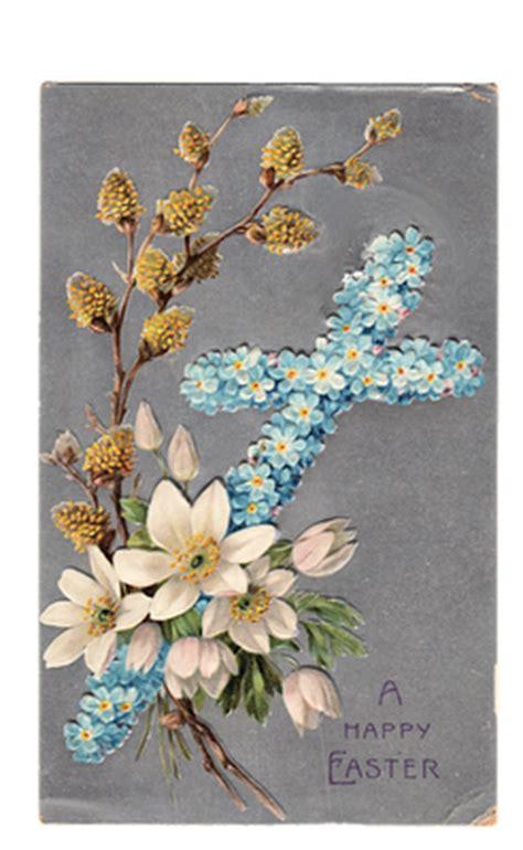vintage clip art easter cross postcard  graphics fairy