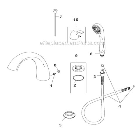 delta faucet parts delta faucet t4705 parts list and diagram