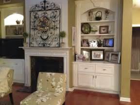 Christmas Decorating Mantel Fireplace with Bookshelves