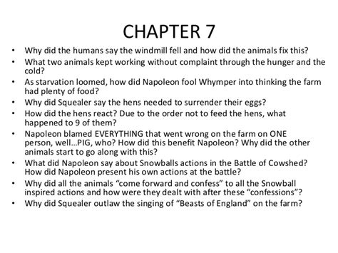 animal farm chapter 6 10 questions