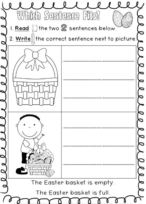 easter handwriting worksheets easter reading and writing worksheets student centered