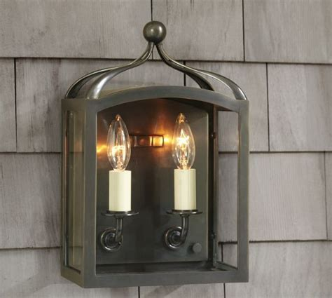 indoor outdoor sconce pottery barn our new