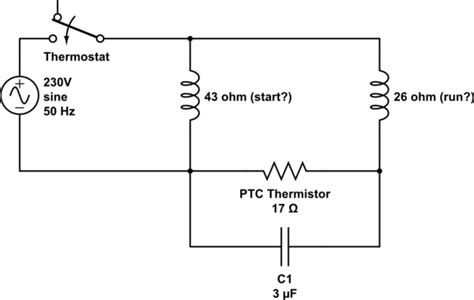 capacitor refrigeration compressor circuit help trying to engineer it electrical