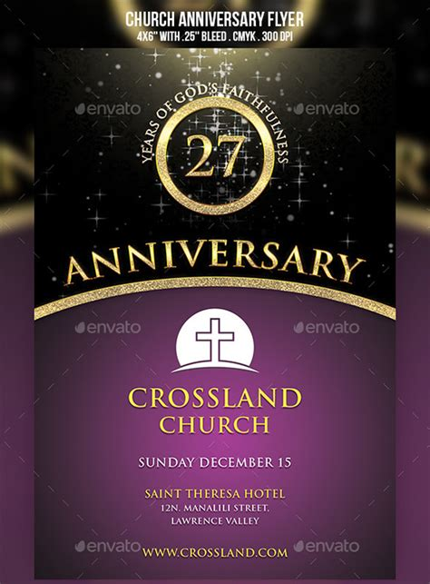 anniversary flyer templates psd ai indesign