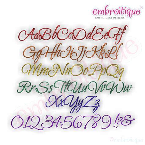 embroitique thatcher script embroidery monogram alphabet font small