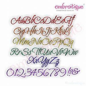 Posh handwriting alphabet