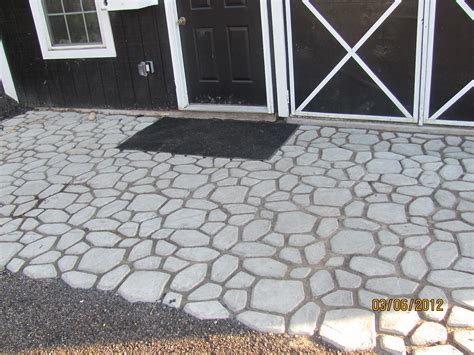 flawless carpentry barn concrete mold walkway patio