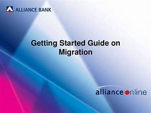 Allianceonline   Getting Started Guide On Migration