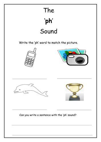 phonics ph sound worksheet by laurenstuart teaching