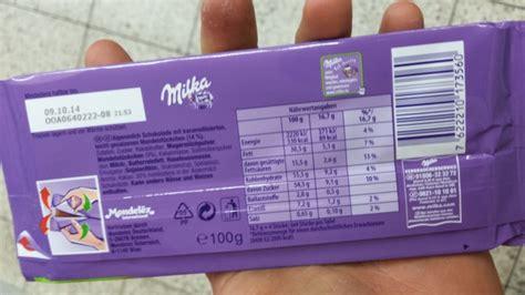 Milka  Tafelschokolade, Caramel Mandel  Kalorien, Nährwerte