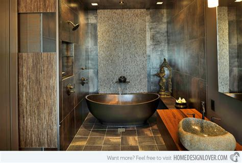Get Nature's Feel In 15 Asian Themed Bathrooms Home