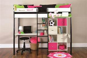 Metal Bunk Beds with Desk - Home Round