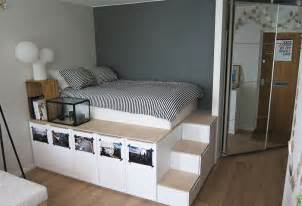 Ikea Malm Desk With Hutch by Lit Ikea Diy Pour Stockage Plateforme Bidouilles Ikea