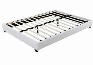 Sommier Tapissier 140x190 : sommier tapissier divan 140x190 cm blanc ~ Teatrodelosmanantiales.com Idées de Décoration