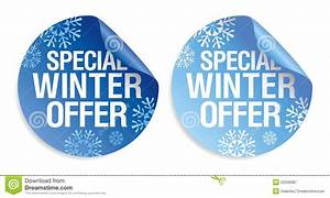 Winter Offer Stickers Royalty Free Stock Photography