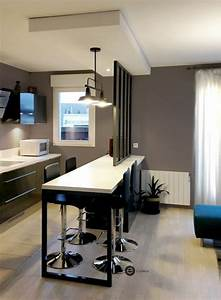 Dco Salon Ralisation D39une Cuisine Ouverte Avec