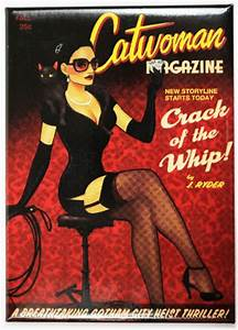 Great Captain Island Light Catwoman Magazine Bombshell Fridge Magnet Comic Book Dc