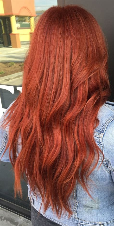 copper red hair  redken color   hairgoals