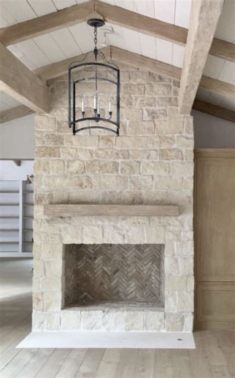austin stone fireplace  ceiling stacked stone