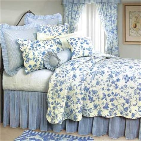 blue white toile bedding brighton blue toile quilt and bedding