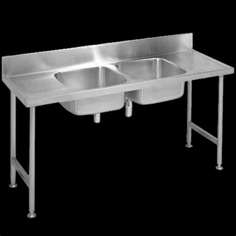 double bowl catering sinks