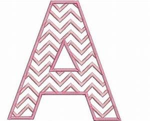Chevron block letter applique entire alphabet set for Block letter applique