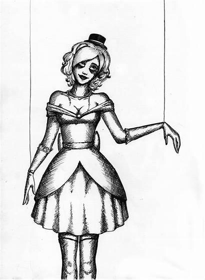 Marionette Puppet Creepy Drawing Doll Izabeth Pencil