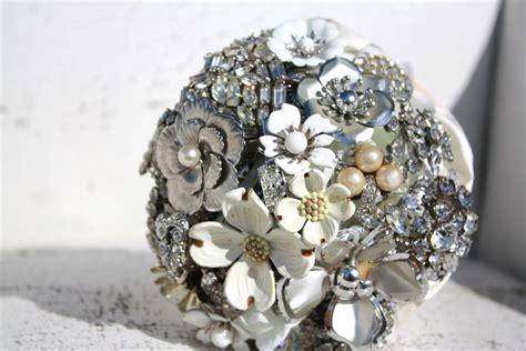 Vintage Wedding Ideas Stunning Brooch Bouquet White Silver