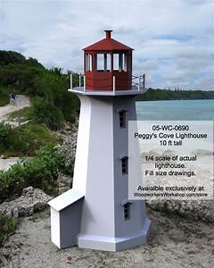 05-WC-0690 - Peggys Cove Lighthouse Woodworking Plan 10ft
