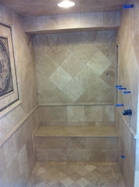 shower with seat shower seat mc tile design inc