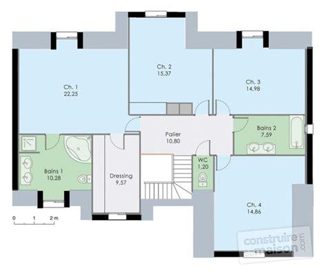 plan maison 4 chambres etage plan habill etage maison demeure familiale with plan