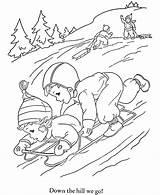 Winter Coloring Nature Season Printable Drawing Kb sketch template