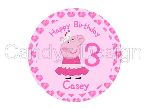 peppa pig edible image icing cake topper candyzdesign