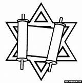 Torah Coloring Pages Jewish Judaism Passover Drawing Symbol Thecolor Library Printables Symbols Celebrations Others Simchat Tallit Crafts Jerusalem Mosaic Shabbat sketch template