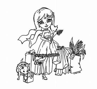 Jadedragonne Deviantart Coloring Pages Shopping Halloween Blank