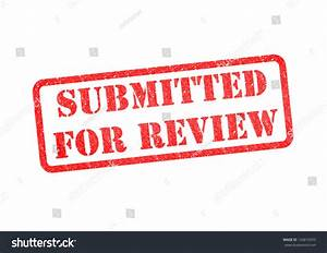 Submitted For Review Red Rubber Stamp Over A White ...