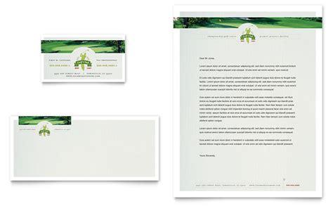 golf  instruction business card letterhead